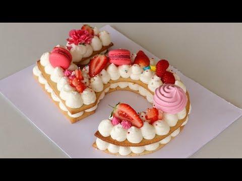 Number Cake   Alphabet Cake   How To Make Cream Tart
