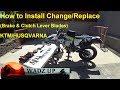 How to Install Change Replace (Brake & Clutch Lever Blades) FLEX LEVER KTM & Husqvarna