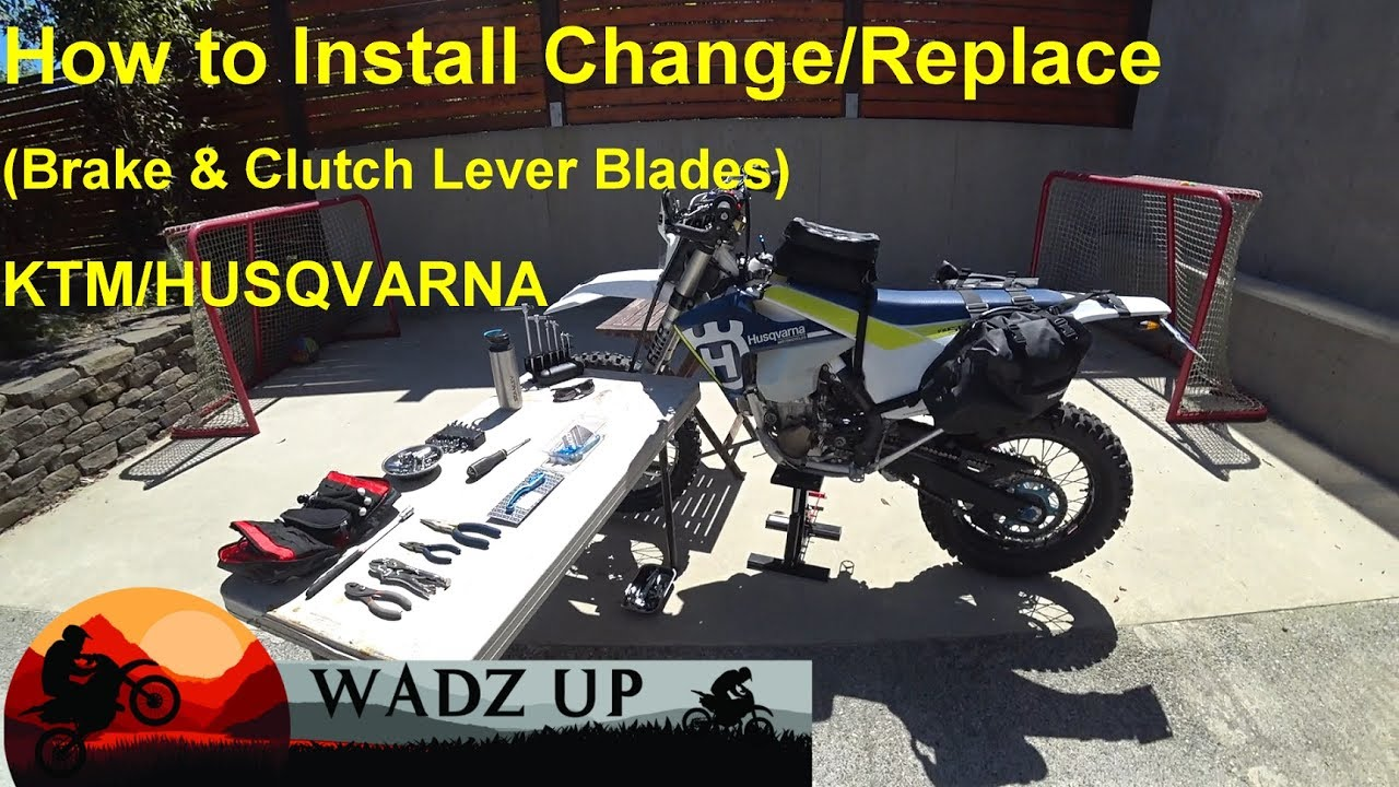 how to install change replace brake clutch lever blades flex lever ktm husqvarna [ 1280 x 720 Pixel ]