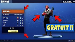 MODIFIER AND CREATE ITS PROPRE SKIN FREE on FORTNITE BATTLE ROYALE!