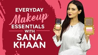 Sana Khaan's Everyday Makeup Essentials | S01E05 | What's in my makeup bag | Fashion | Pinkvilla