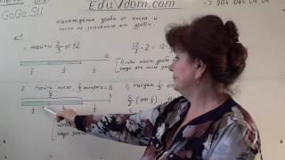 Математика 5-6 класс — 00100. Нахождение дроби от числа Обучение ч.1
