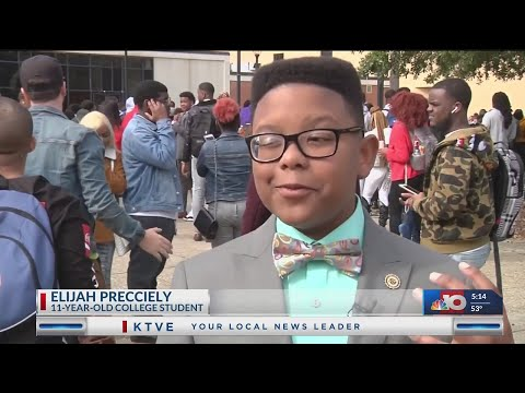 8171cebe6b55 Elijah Precciely, 11 year old prodigy starts at southern university -  YouTube
