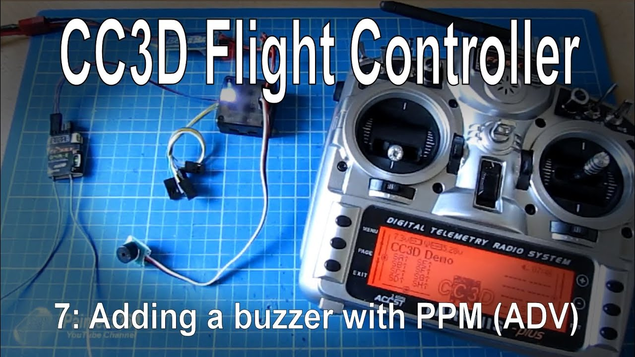 (7/10) cc3d flight controller - adding a buzzer with a cppm/ppm receiver  (advanced)