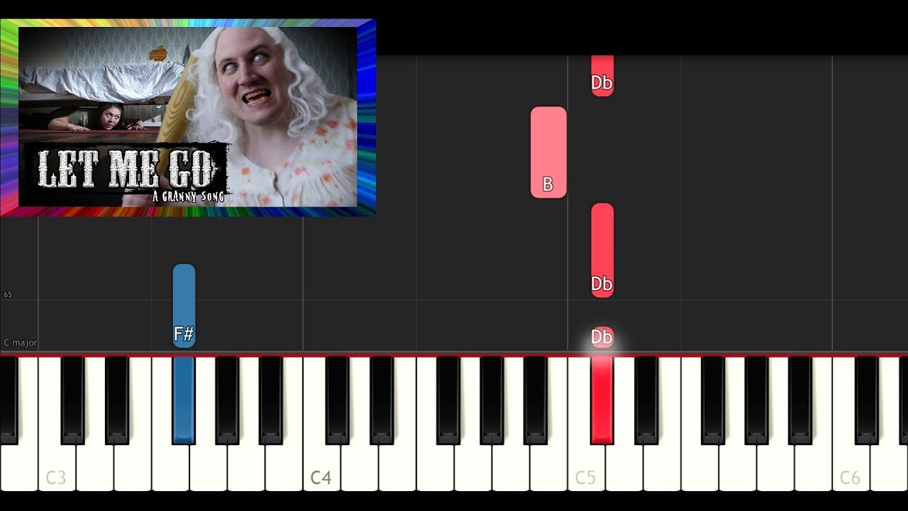 Let me go sheet music for piano download free in pdf or midi.