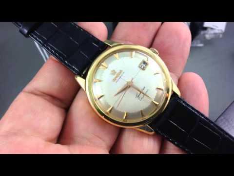 Omega Geneve Calendar - Vintage 1950s solid gold Omega