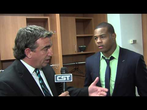 Post-game interview with Pierre Thomas following the Saints