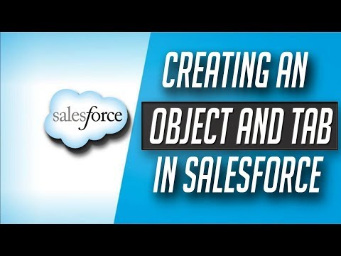 how to create custom object and tab in salesforce - Salesforce Tutorial in hindi #4