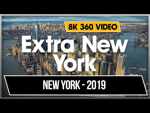 8K 4K 360 VR Video Walking New York Times Square Central Park Flatiron Empire States 2019 USA NYC