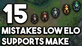 15 Mistakes Most Low Elo Supports Make   Tips To Climb From Support For Season 9 ~ League of Legends