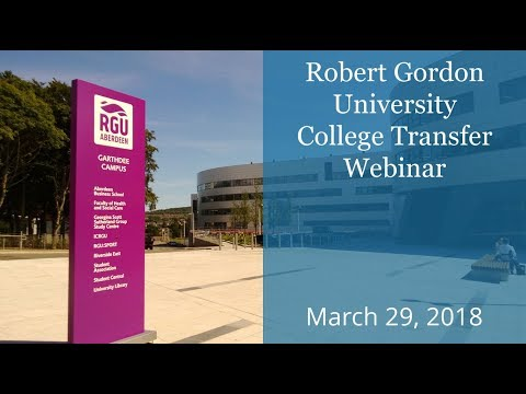 RGU College Transfer Program brought to you by KOM Consultants - March 28, 2018