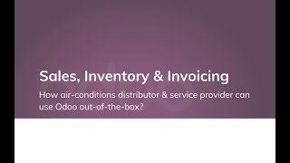 How air-conditions distributor & service provider can use Odoo out-of-the-box?