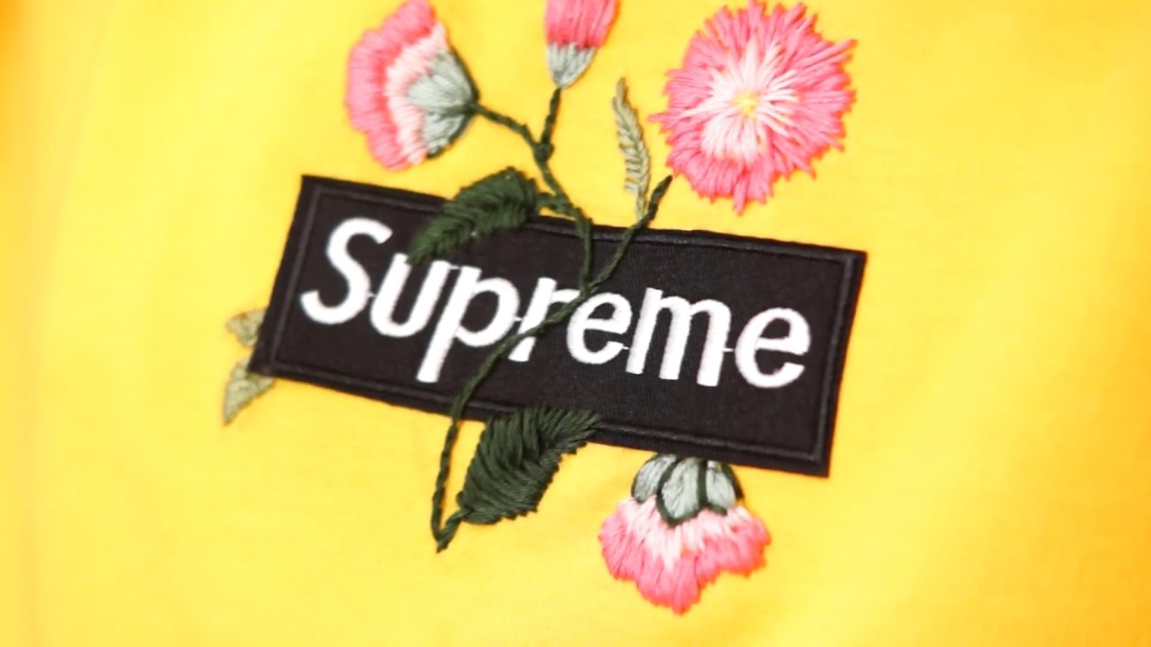 DIY Supreme embroidered Hoodie | Embroidery Tutorial