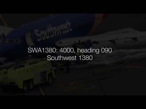 Southwest 1380 engine failure 4172018 ENTIRE EVENT: actual multisector ATC audio