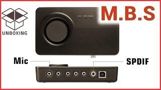 ASUS XONAR U5 USB2 звуковая карта. Анбоксинг и тестирование. Самодельный микрофон.