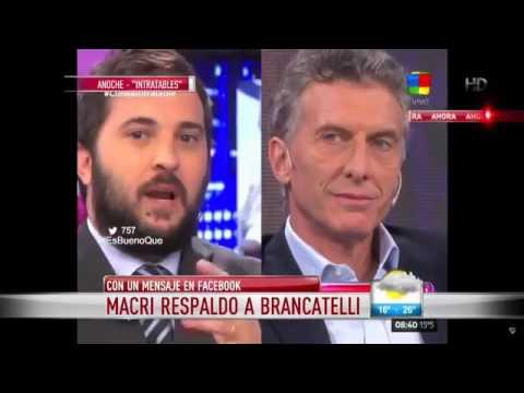 Macri y Brancatelli se encontraron en vivo después de la carta en Facebook