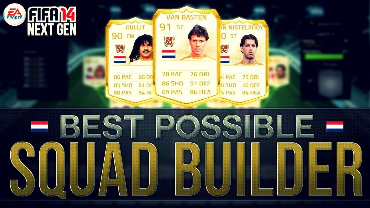 BEST POSSIBLE NETHERLANDS TEAM! w/ LEGEND CARDS | FIFA 14 Ultimate