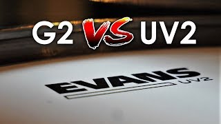 Evans UV2 vs. G2 Coated - Direct Drumhead Comparison