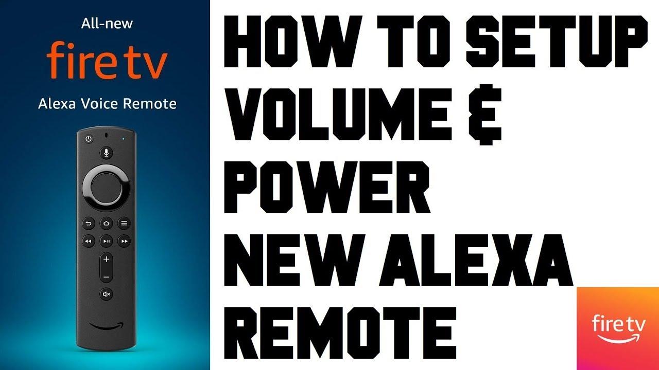 Fire TV Remote Volume & Power Setup - Fire TV Stick Alexa Remote Volume &  Power Not Working?