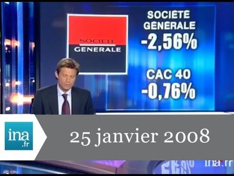 JT 20h France 2 du 25 janvier 2008 - Archive INA