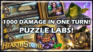 1000 DAMAGE IN ONE TURN! PUZZLE LABS! - Boomsday / Puzzle Labs / Hearthstone
