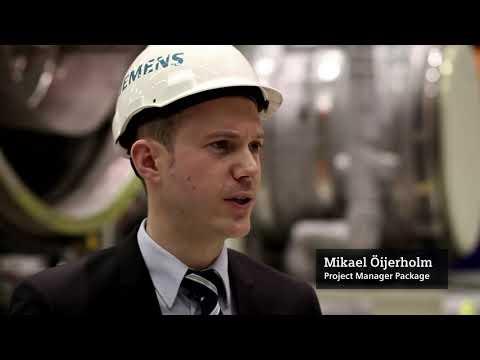 Промышленная газовая турбина Siemens SGT-800 класса A 50 МВт