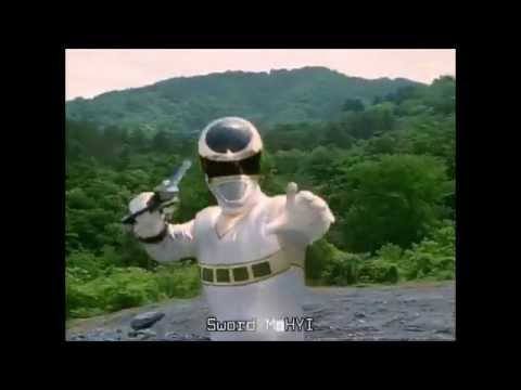 Power Rangers In Space Silver Ranger First Appearance (PR and Sentai version)
