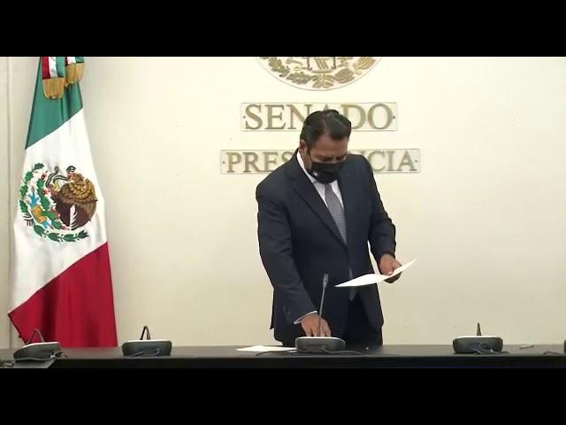 Rinde protesta en el Senado Gabriel Torres Espinoza como miembro del Consejo Consultivo del INAI