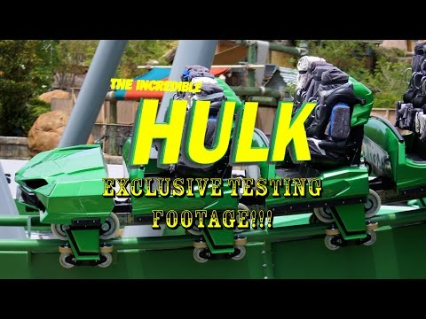 FIRST LOOK Universal Orlando Incredible Hulk Roller Coaster Daytime Testing Footage!