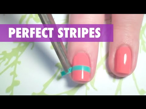 How to create perfect stripes on your nails youtube how to create perfect stripes on your nails prinsesfo Images
