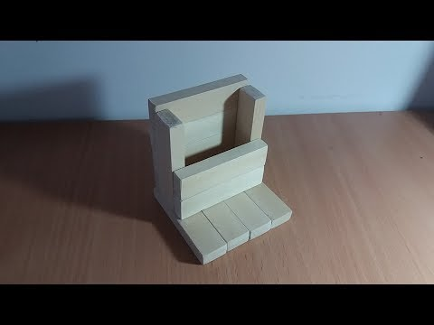 How to make a pencil holder with wood.