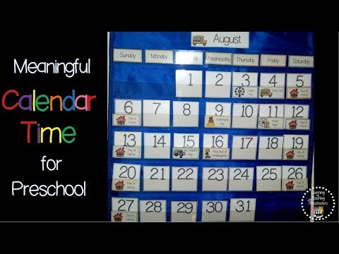 Meaningful Calendar Time in Preschool