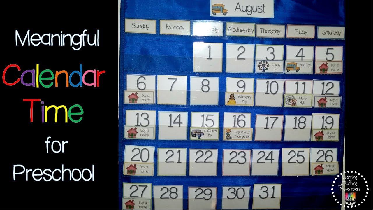 Meaningful Calendar Time in Preschool - YouTube