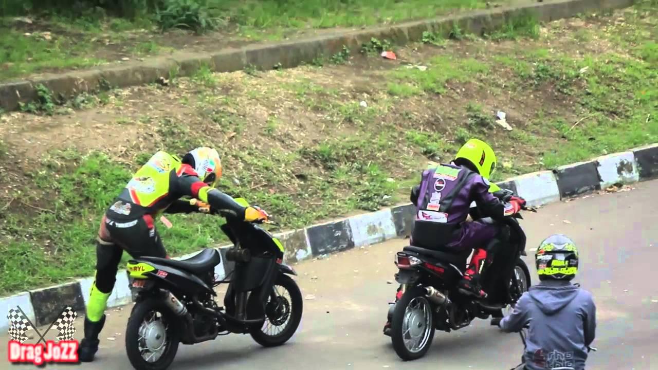 road race mio vs fiz r vs satria fu - youtube