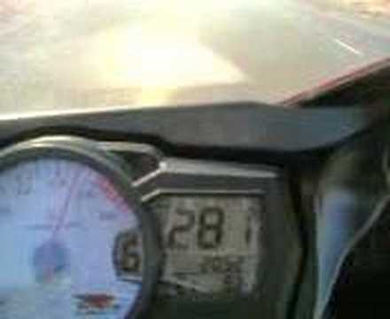 GSXR600 K7 Top Speed @ 295kph