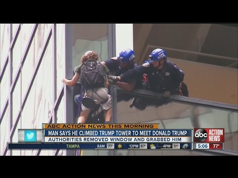 Man climbing Trump Tower captured by police