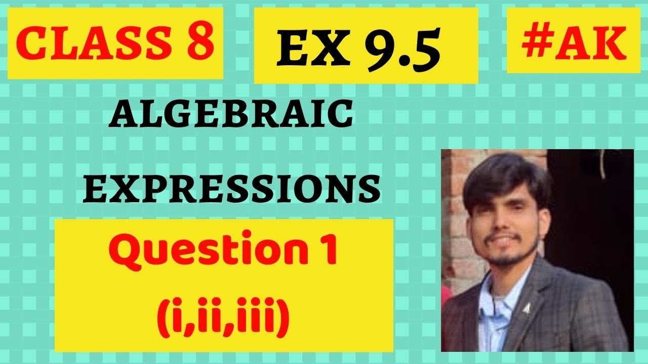 #18 Ex 9 5 class 8 question 1(i,ii,iii) algebraic expressions and identities