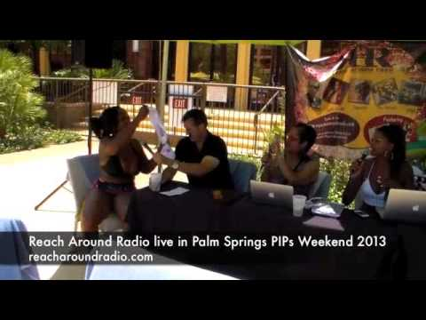 Reach Around Radio Crew in Palm Springs for PIPS 2013