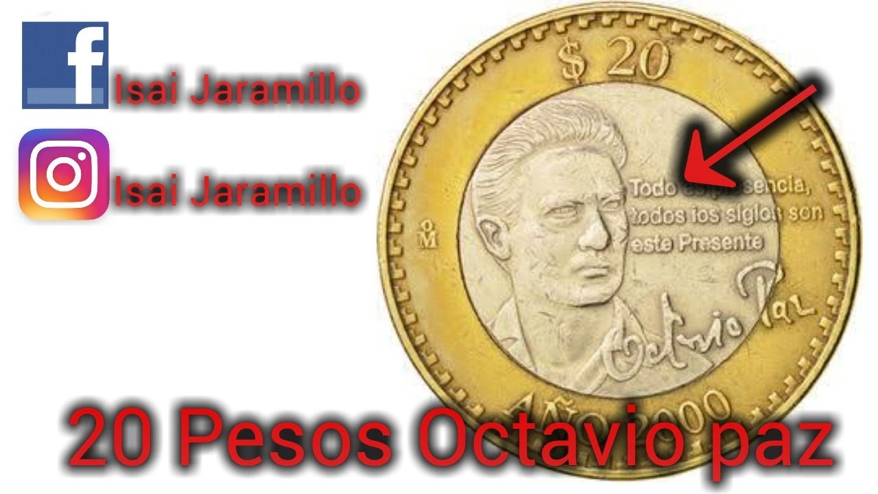 Mexico 20 Pesos Octavio Paz 2000