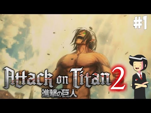 EREN BERAKSI! VS Female TITAN GAES! - Attack On Titan 2 #1