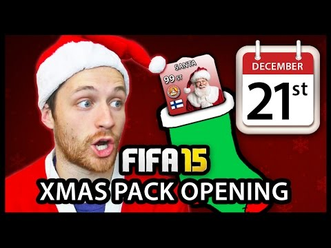 XMAS ADVENT CALENDAR PACK OPENING #21 - FIFA 15 ULTIMATE TEAM
