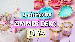4 Pinterest Zimmer Deko DIYs ♥  Einhorn Kissen 🦄, Kristalle ✨, Girlande und Windlichter basteln!