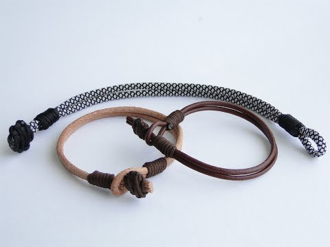 How To Make A Paracord/Leather Bracelet-CbyS Knot And Loop Closure Solution For Any Types Of Cord