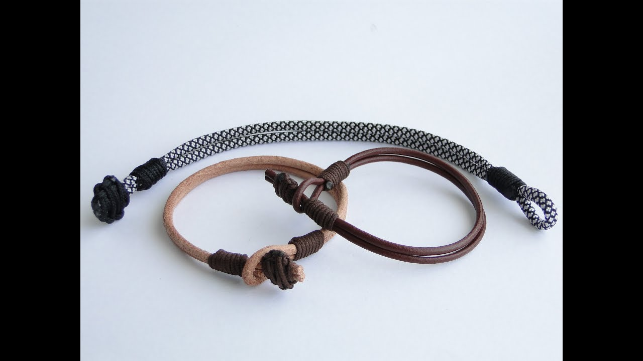 How To Make A Paracord Leather Bracelet Cbys Knot And Loop