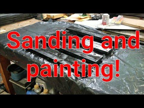 DIY 20u + server rack. Part 3 sanding and painting.