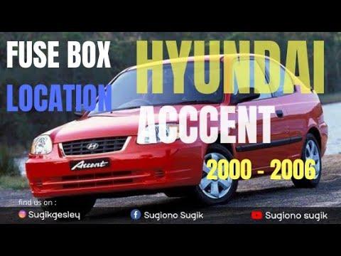 Hyundai Accent 1999 2005 Fuse Box Diagrams Youtube