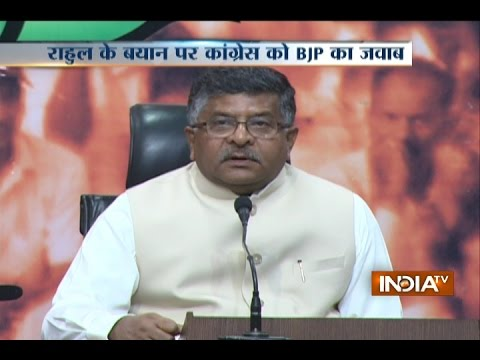 Ravi Shankar Prasad Holds Press Conference At BJP Central Office In Delhi