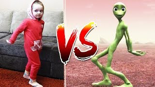 DAME TU COSITA  Dance CHALLENGE Funny Alien Dance Challenge 2018 #dametucositachallenge