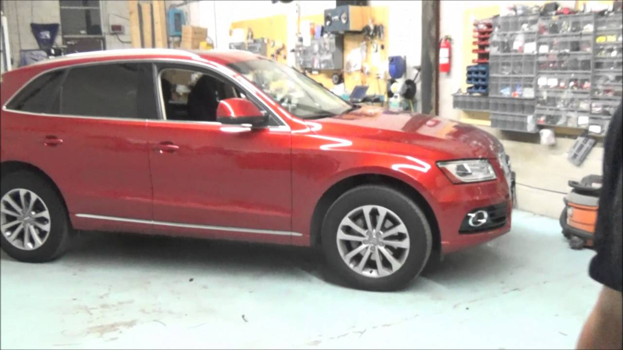 Audi Q5 2014 OEM Key remote starter - YouTube