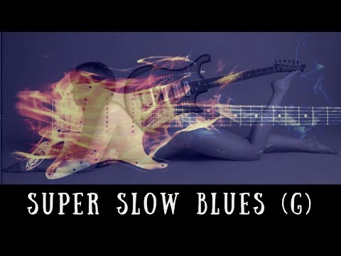 Super Slow Blues Jam | Sexy Guitar Backing Track (G)